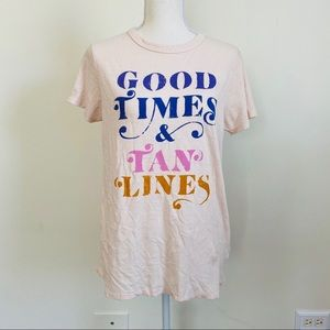 Junk Food Good Times & Tan Lines Graphic Tee Sz M